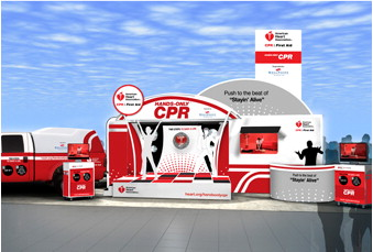 photo of Hands-Only CPR mobile unit