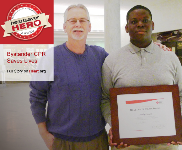 HeartSaver Hero. Bystander CPR Saves Lives.